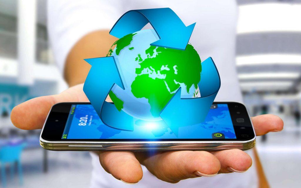 recyclage de téléphone